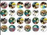 24 x Timmy Time Edible Rice Wafer Paper Cup Cake Toppers tops 1.6''